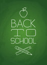 Back to school green chalkboard with Stock Photos