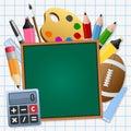 Back to School Green Chalkboard