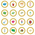 Back to school icon circle