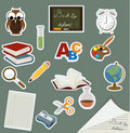Back to school icon set Stock Images