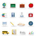 Back to school icons Royalty Free Stock Photos