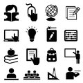 Back to school icons icon set Stock Image