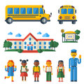 Back to School Icons Set Royalty Free Stock Photo