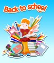 Back to school - illustration Royalty Free Stock Photos