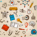 Back to school illustration bright Royalty Free Stock Photos
