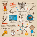 Back to school illustration bright Royalty Free Stock Photography