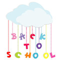Back to school illustration with colored letters Royalty Free Stock Image