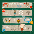Back to school illustration set bright Royalty Free Stock Photo