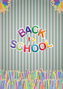 Back to school illustration of text with colors pastel Stock Photo
