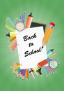 Back to school illustration of text on white sheet Stock Photography