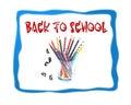 Back to school image design logo background