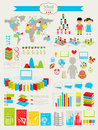 Back to school Infographic set Stock Photography