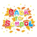 Back to school inscription multicolored letters Royalty Free Stock Photo