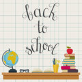 Back to school inspirational quote Royalty Free Stock Photo