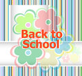 Back to school invitation card with flowers, education concept Royalty Free Stock Photo