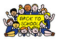 Back to school kids Royalty Free Stock Photo