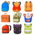 Back to School kids school backpack vector illustration Royalty Free Stock Photo