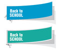 Back to school labels advertising Stock Images