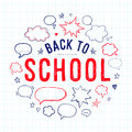 Back to school lettering and speech bubbles