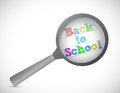 Back to school magnify illustration design over a white background Stock Photos