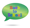 Back to School Message bubble illustration Royalty Free Stock Photos