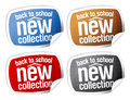 Back to school - new collection stickers. Royalty Free Stock Photo