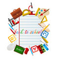 Back to School objects Stock Photography