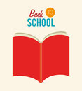 Back to school over beige background vector illustration Royalty Free Stock Photos