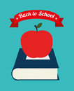 Back to school over blue background vector illustration Royalty Free Stock Image