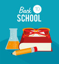 Back to school over blue background vector illustration Stock Photo