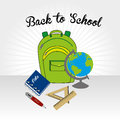 Back to school over gray background vector illustration Royalty Free Stock Images