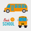 Back to school over gray background vector illustration Stock Images