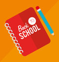Back to school over orange background vector illustration Stock Photos