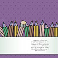 Back to school over purple background vector illustration Royalty Free Stock Photos