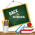 Back to school over white background vector illustration Stock Photography