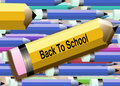 Back to school Pencils 3 Stock Photos