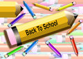 Back to school Pencils Stock Photo