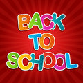 Back to school poster red Stock Images
