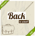 Back to school poster vector illustration eps Royalty Free Stock Photography