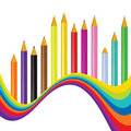 Back to school rainbow background Stock Image