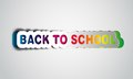 Back to school realistic papercut takes the background color Royalty Free Stock Image