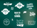 Back to school retro style elements Stock Image