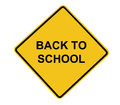 Back to School Road Sign Stock Image