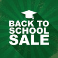 Back to school sales or discounts poster with