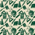 Back to school seamless hand drawn pattern.