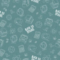 Back to school seamless pattern featuring school life objects