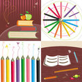 Back to school set Royalty Free Stock Images