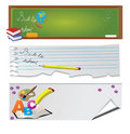 Back to school - set of banners Stock Photo