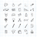 Back to school. Set of drawing elements with a sheet in a box. for education with endolar accessories. Vector illustration.