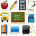 Back to school set of icons relating and education Royalty Free Stock Photo